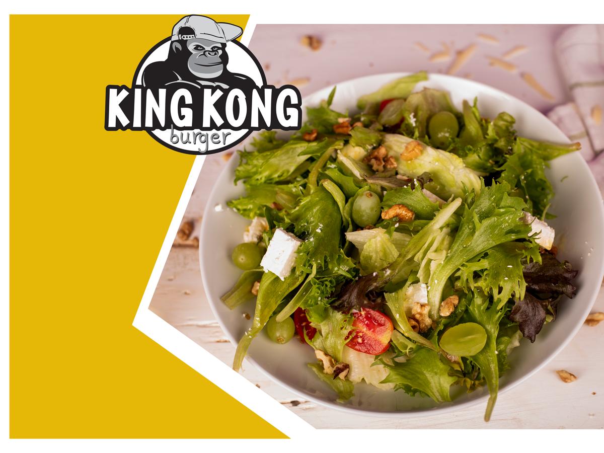 Графична обработка на банери за Кинг Конг Бургер Бургас